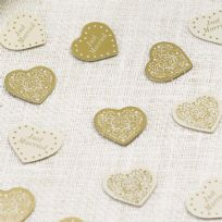 Vintage Romance Ivory & Gold Table Confetti (14g)